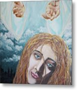 Jesus Close To The Broken Hearted Metal Print