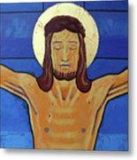 Jesus Dies On The Cross Metal Print