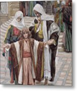 Jesus Found In The Temple Metal Print by Tissot