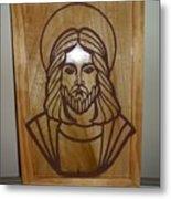 Jesus Frame Metal Print