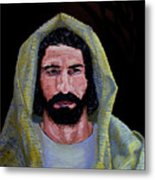 Jesus In Contemplation Metal Print