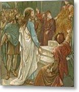 Jesus In Front Of Pilate Metal Print by John Lawson