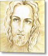 Jesus In Light Metal Print by Stoyanka Ivanova