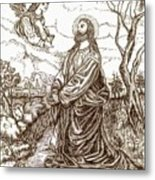 Jesus In The Garden Of Gethsemane Metal Print