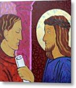 Jesus Is Condemned Metal Print
