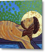 Jesus Is Nailed To The Cross Metal Print