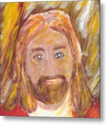Jesus Is The Christ The Holy Messiah 5 Metal Print by Richard W Linford