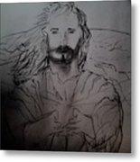 Jesus Light Of The World Full Metal Print