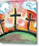 Jesus Loves You Metal Print