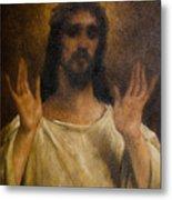 Jesus Meets The Daughters Of Jerusalem. Jesus Comfort Them. 8. Station Of The Cross Metal Print
