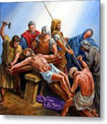 Jesus Nailed To The Cross Metal Print