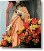 Jesus On Burano Metal Print