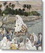 Jesus Preaching By The Seashore Metal Print