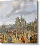 Jesus Preaching On The Shores Of The Sea Of Galilee Metal Print