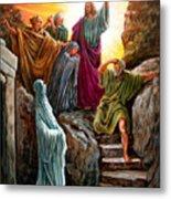 Jesus Raises Lazarus Metal Print