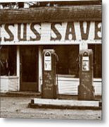 Jesus Saves 1973 Metal Print
