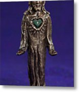 Jesus Statue With Sacred Heart Metal Print by Jasmina Agrillo Scherr