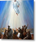 Jesus Taken Up Into Heaven Metal Print