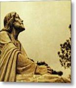 Jesus Teach Us To Pray - Christian Art Prints Metal Print