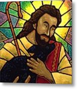 Jesus The Good Shepherd Metal Print