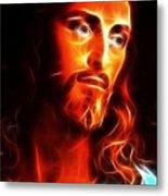 Jesus Thinking About You Metal Print by Pamela Johnson
