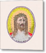 Jesus With The Crown Of Thorns Metal Print