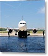 Jet Aircraft Rendering. Metal Print