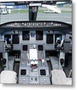 Jet Airplane Cockpit Metal Print by Jaak Nilson