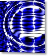 Jet Blue Metal Print