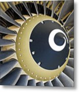 Jet Engine Detail. Metal Print