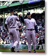 Jeter And Torre Metal Print