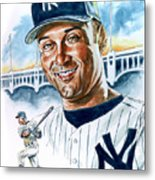 Jeter Metal Print by Tom Hedderich