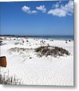Jetty Park At Cape Canaveral In Florida Usa Metal Print
