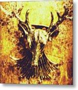 Jewel Deer Head Art Metal Print