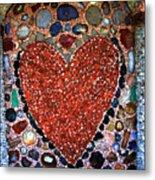 Jewel Heart Metal Print