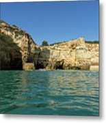 Jewel Toned Ocean Art - Gliding By Sea Caves And Secluded Beaches Metal Print