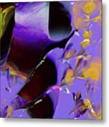 Jeweled Amethyst Metal Print