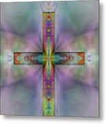 Jeweled Cross Metal Print