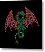 Jeweled Dragon Metal Print