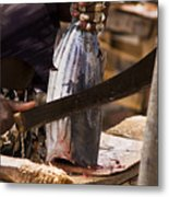 Jeweled Hand Skinning Fish Metal Print