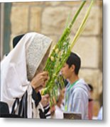 Jewish Sunrise Prayers At The Western Wall, Israel 6 Metal Print