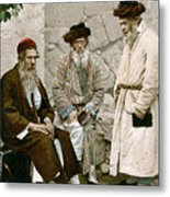Jews In Jerusalem, C1900 Metal Print