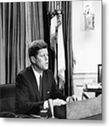 Jfk Addresses The Nation Painting Metal Print