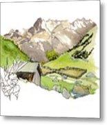 High Pastures,   Col De La Cayolle Metal Print