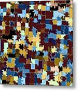 Jigsaw Abstract Metal Print
