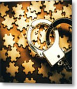 Jigsaw Of Misconduct Bribery And Entanglement Metal Print