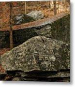 Jigsaw Rocks Metal Print