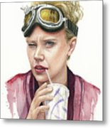 Jillian Holtzmann Ghostbusters Portrait Metal Print