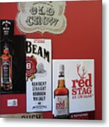 Jim Beam's Old Crow And Red Stag Signs Metal Print