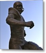 The Jim Brown Statue, Cleveland Browns Nfl Football Club, Cleveland, Ohio, Usa Metal Print